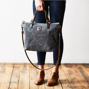 The Crossbody Day Bag - Ash Grey - KESTREL