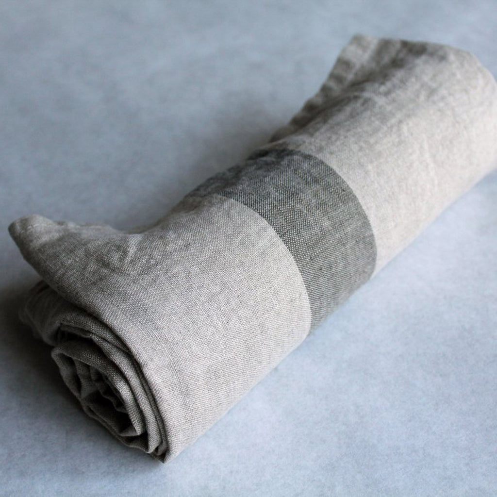 Travelweight Linen Bath Towel - Gray