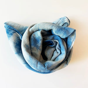Hand Dyed Cotton Scarf - Indigo