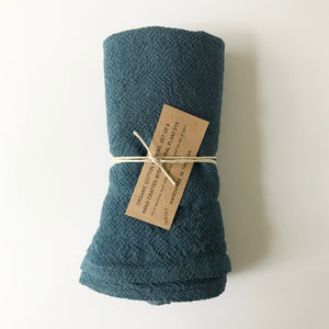 Organic Cotton Napkins - Indigo