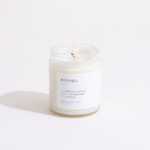 Hinoki Glass Candle