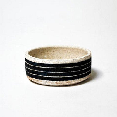 Painted Votive - Black Horizontal Stripe