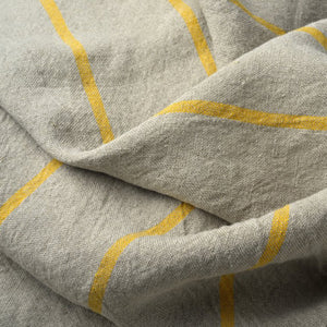 Yellow Striped Linen Kitchen Towel - KESTREL