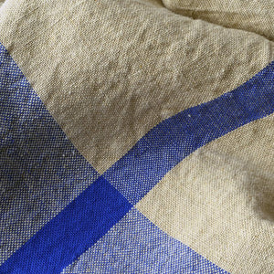 Linen Bath Towel - Blue