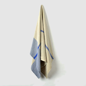 Linen Bath Towel - Blue - KESTREL