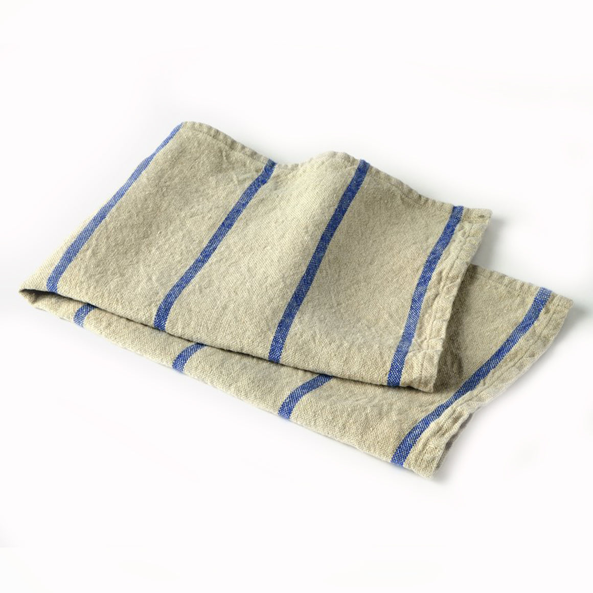 Blue Striped Linen Kitchen Towel - KESTREL