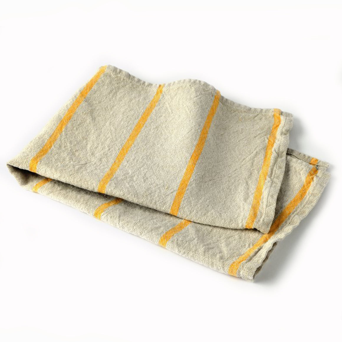 Yellow Striped Linen Kitchen Towel