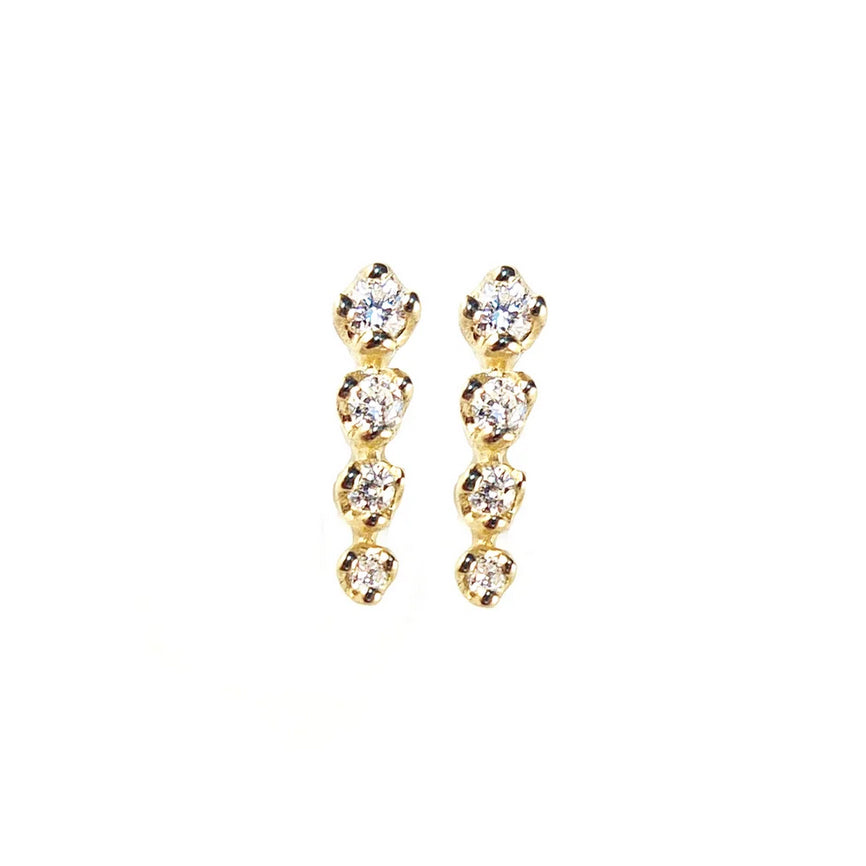 Icicle Diamond Stud Earrings