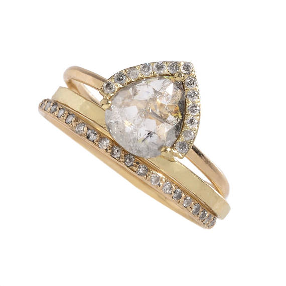 ct round cut ring bands pave gold cocktail wide band diamond wedding rose