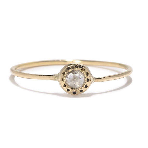 Rose Cut Diamond Sun Band