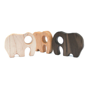 Wooden Rattle Elephant