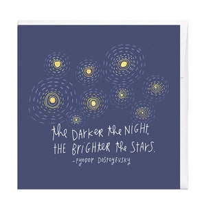 The Darker The Night Card