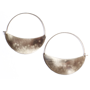 Brass Crescent Hoops