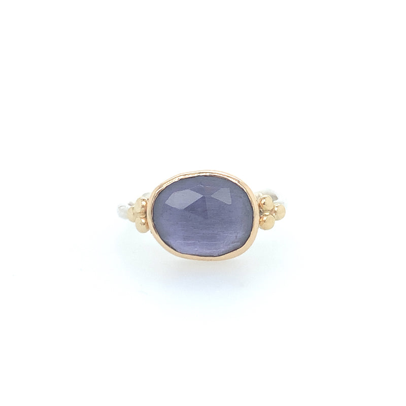 Iolite Ring w/ Side Beads