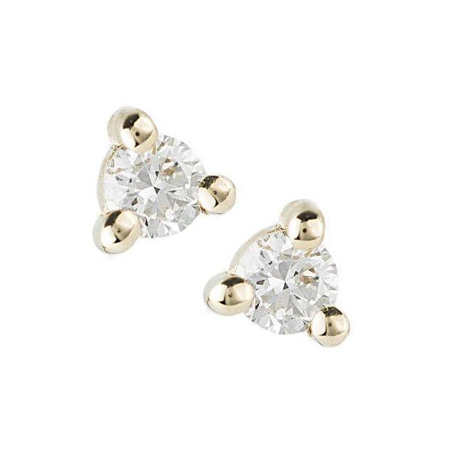 14K 1.5MM Diamond Dot Studs - KESTREL