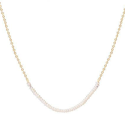 14K Pearl Beaded Arc Necklace - KESTREL