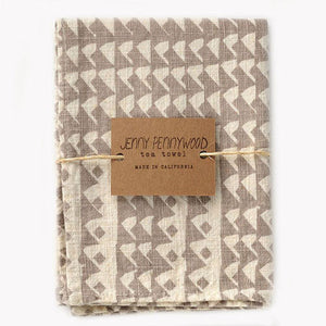 Triangles Tea Towels (Flax) - KESTREL