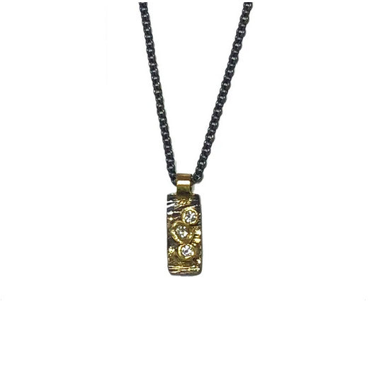 Aspen Necklace w Diamond Trio - KESTREL
