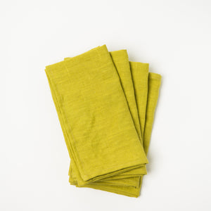 Linen Napkins - Lemon (Set of Four)