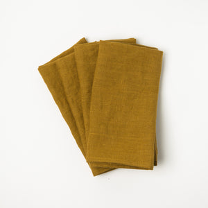 Linen Napkins - Turmeric (Set of Four)