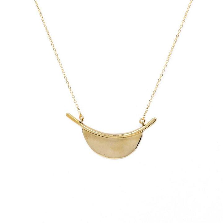 Kyoto Crescent Necklace - Brass - KESTREL