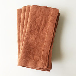 Linen Napkins - Set/2 - Baked Clay