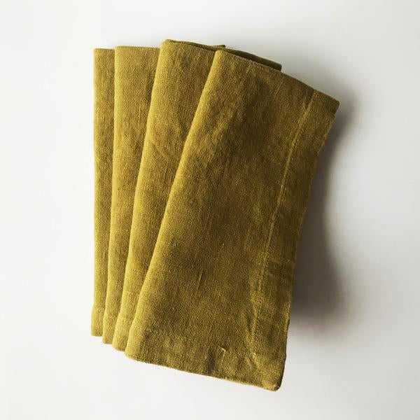 Linen Napkins - Set/2 - Moss Green
