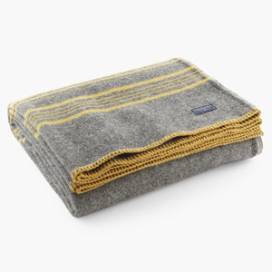 Charcoal/Gold Weekender Throw - KESTREL