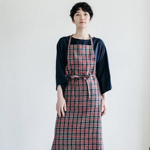 Plaid Linen Apron