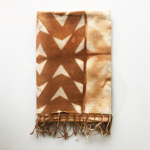 Madder Root Chevron Scarf - KESTREL