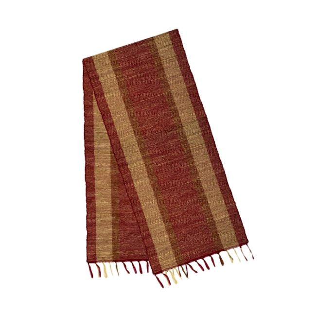 Vetiver Table Runner (Marsala Bronze) - KESTREL