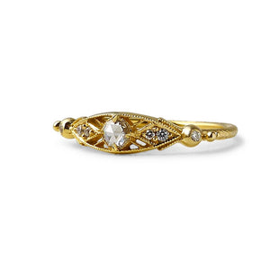 14k Minima Diamond Ring