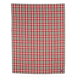 Minnehana Falls Wool Throw - Red/Gray