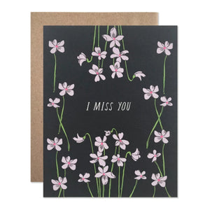 Miss You Violets Card - KESTREL
