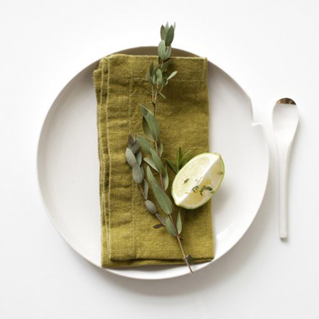 Linen Napkins - Set/4 - Moss Green