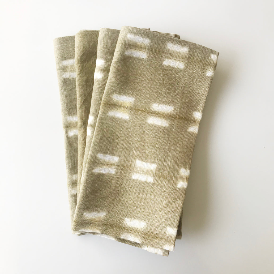 Onion Dye Itajime Napkins - Set of 4 - KESTREL
