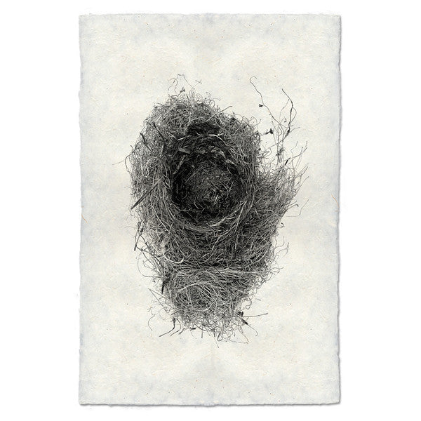 Nest Print #6 on handmade paper