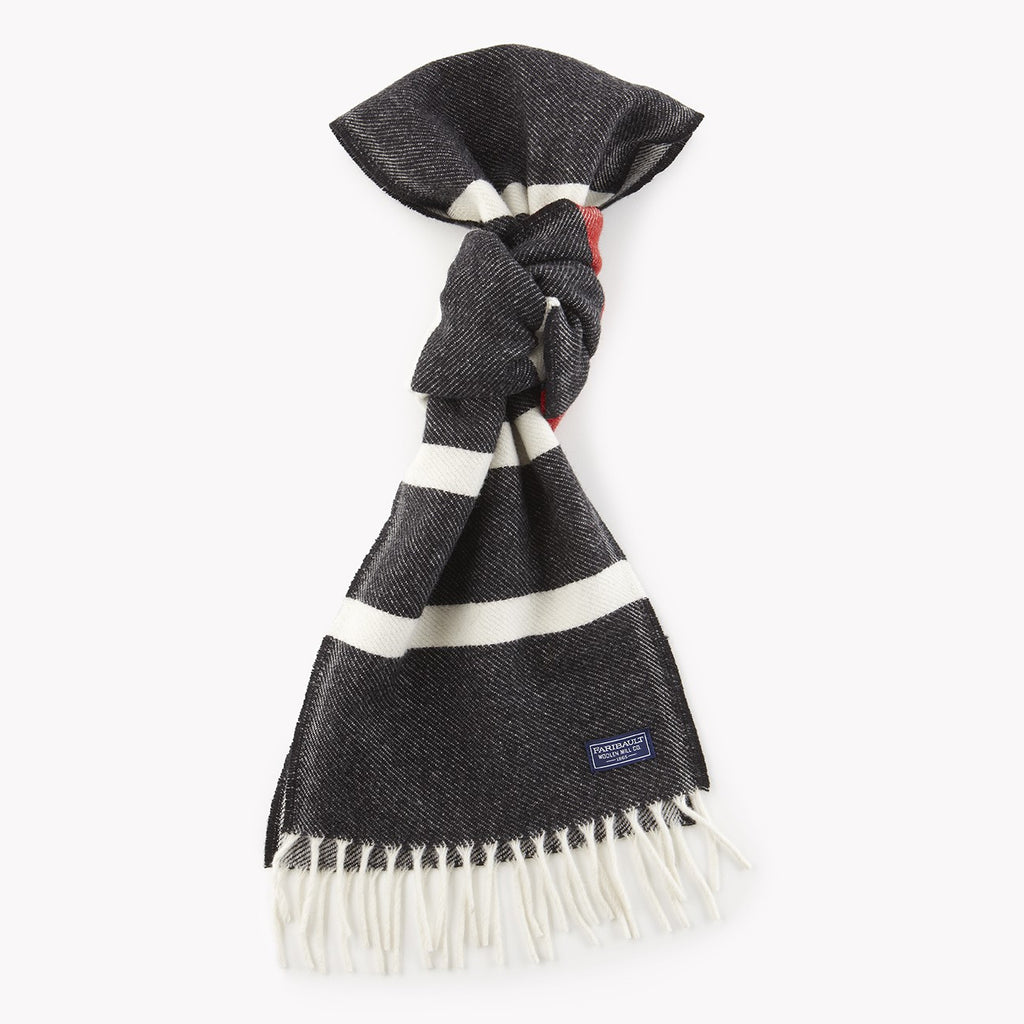 Nisswa Wool Scarf (Black Stripe)