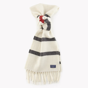 Nisswa Wool Scarf (Natural Stripe)