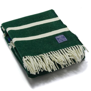 Nisswa Wool Throw - Forest Green