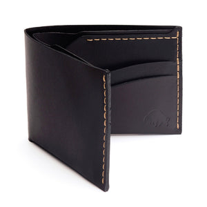 No. 6 Wallet - Black w/ Top Stitch - KESTREL
