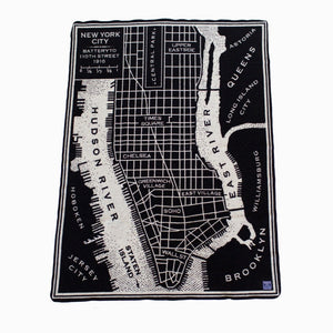 Jacquard NYC Map Throw