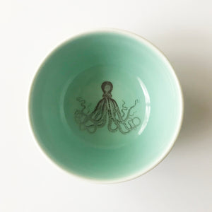 Tiny Octopus Bowl (Aqua) - KESTREL