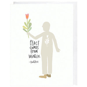 Peace Comes From Within Card - KESTREL