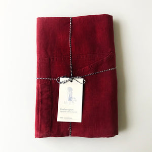 Linen Tales Pinafore Apron (Burgundy)