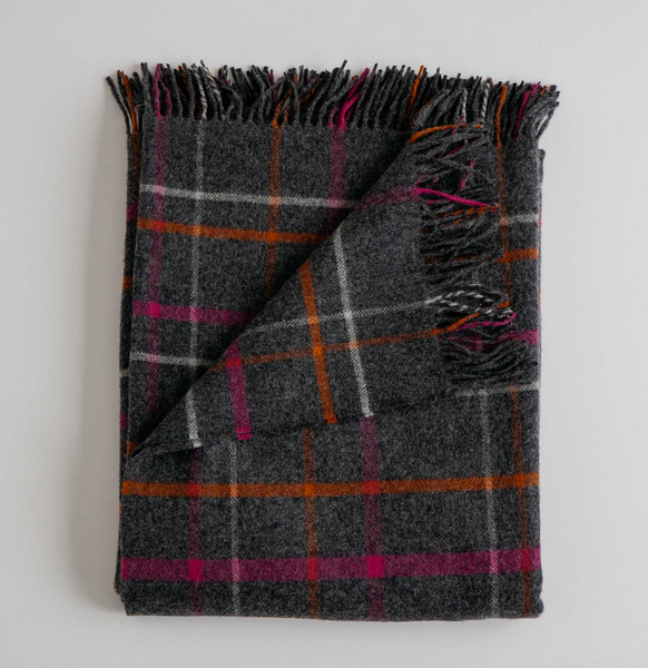 Merino Lambswool Throw - Plaid/Multi