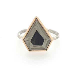 Pyrite Shield Ring