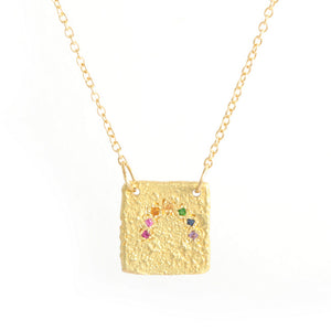 18k Rainbow Tesorito Necklace
