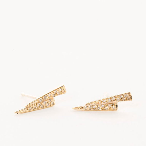 Razor Studs with Diamonds