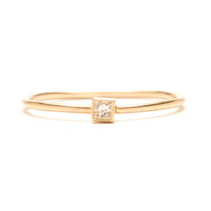 14K Square Diamond Ring - KESTREL